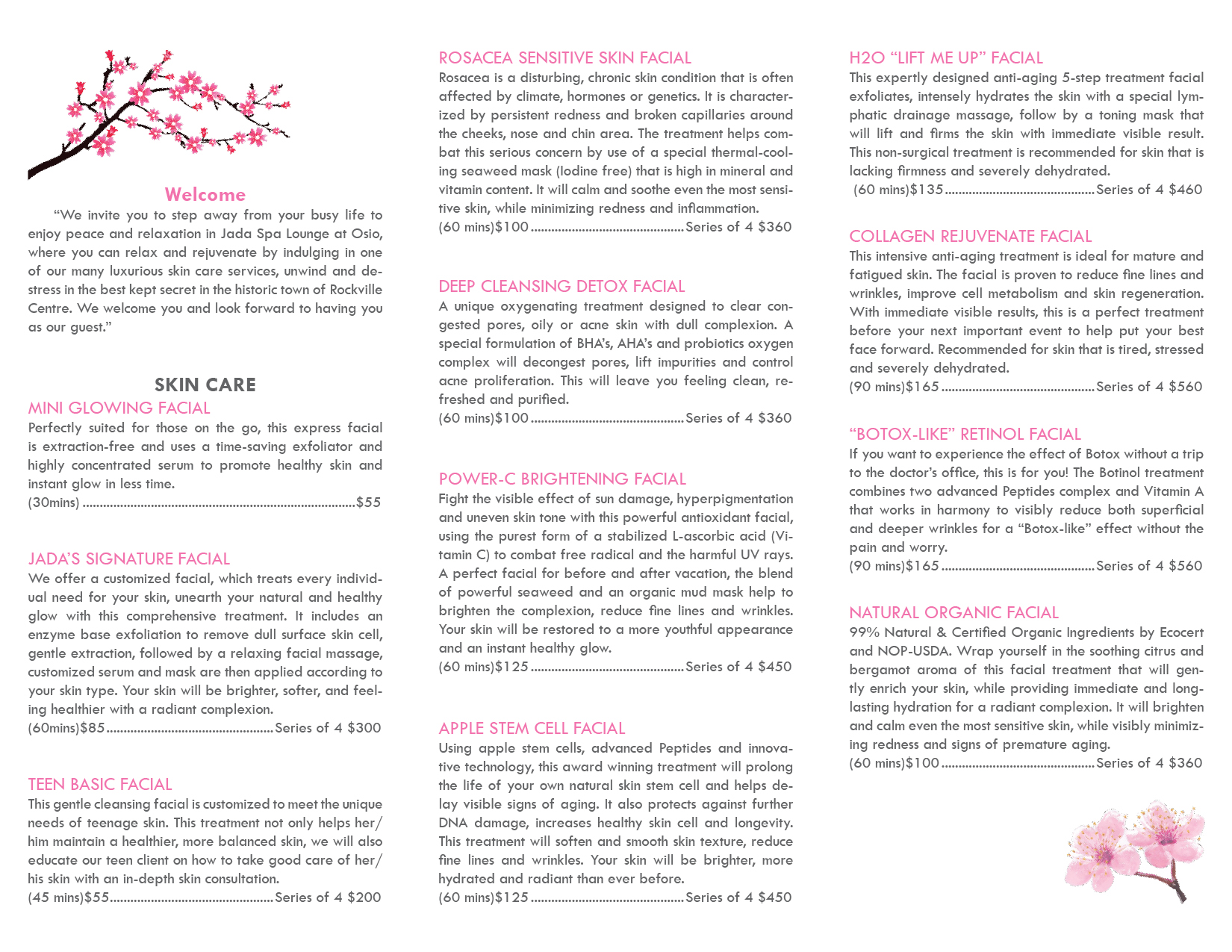 Brochure - Jada Spa Lounge at Osio